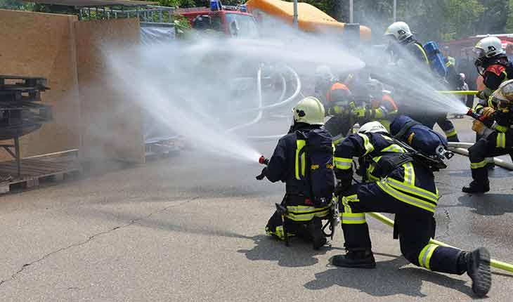 Brandschutzübung UPGRADE.EU GmbH
